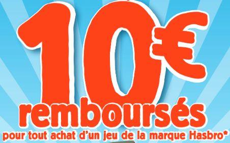 10 euros rembourses sur les jeux Hasbro