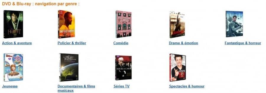 30 euros les 5 DVD à choisir parmi 2000 titres (livraison gratuite)