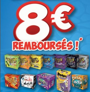 8 euros remboursés sur Time's Up, Jungle Speed, Dobble
