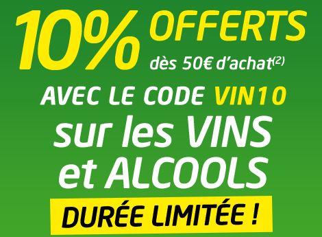 Alcool, Vin et Champagne remise sur Cdiscount