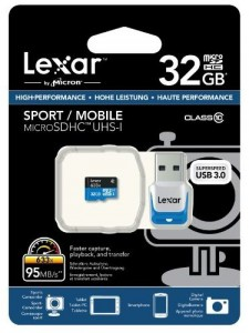 Carte Micro SDXC 32Go Classe 10 + lecteur USB 3.0 Lexar