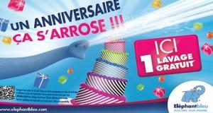 Comme chaque année, c'est l'anniversaire des stations de lavage Eléphant bleu et quelques part aussi le vôtre, car de nouveau l'enseigne nationale de lavage auto vous propose le lavage de votre voiture gratuit ! Présent en France (plus de 100 stations), en Belgique et Pays Bas, Eléphant Bleu est un des leader du lavage auto en libre-service d'Europe. Pour bénéficier de votre lavage gratuit vous devez simplement demander vos jetons Eléphant Bleu gratuits Le lavage offert est d'une valeur de 4 euros, à savoir 2 jetons de 2 euros (ou recharge de 4 euros si vous avez une clé de lavage Eléphant Bleu. Demandez votre jeton de lavage gratuit Eléphant Bleu Offre valable uniquement pour les véhicules légers. Non valable pour les utilitaires et caravanes)