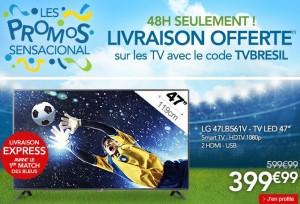 Livraison express GRATUITE sur les TV chez Rue Du Commerce