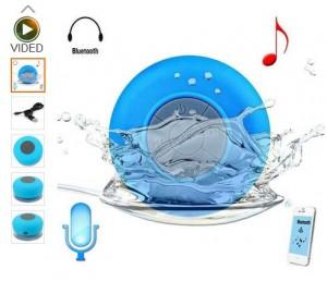Moins de 10 euros l'enceinte Bluetooth waterproof avec micro et ventouse