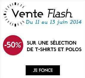 Plus de 600 t-shirts à moitie prix vente flash Galeries Lafayette