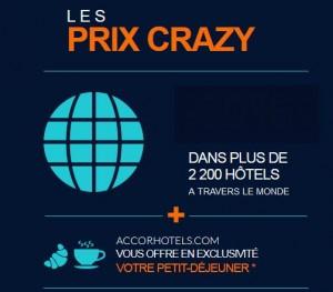 40% de remise sur les hôtels Accor (Ibis, Novotel, Mercure, Sofitel… ) + ptit dej. offert