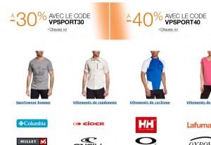 Remise sur les vêtements de sport & sportwear