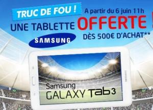 tablette Samsung gratuite