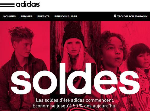 Soldes Adidas 600 articles a moitie prix