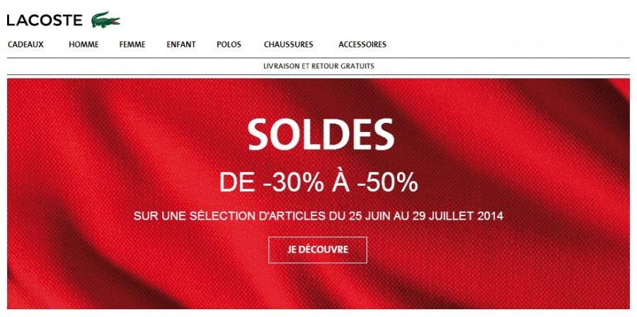 6a6ffe3a5b Soldes Lacoste ! Jusqu'à 50% de remise + livraison gratuite | Bons ...