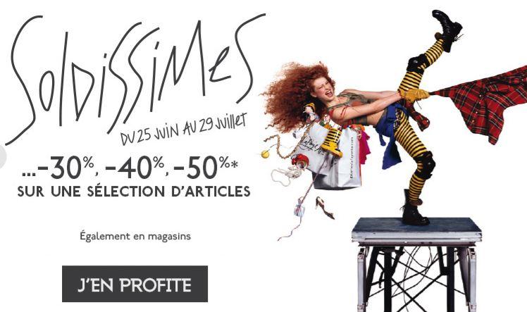 10% suppl. sur les soldes d'été Galeries Lafayette