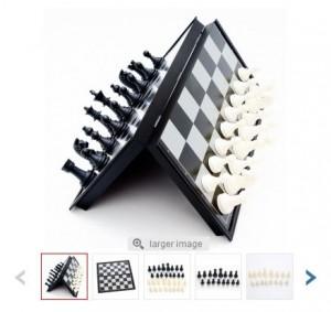 jeu d'échecs magnétique de voyage moins de 4 euros port inclus