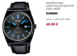 montre Casio homme noire