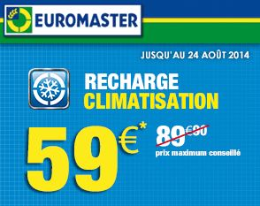 recharge climatisation euromaster 59 euros au lieu de 89 euros chez euromaster. Black Bedroom Furniture Sets. Home Design Ideas