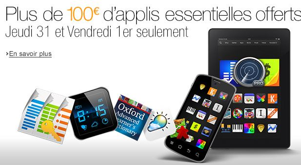 100 euros d'applis gratuite sur App-Shop Amazon