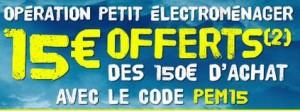 Bon plan petits électroménager avec 10 euros de remises