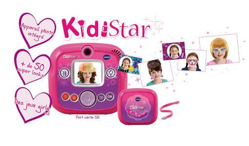 Moins de 10 euros l'appareil photo KidiStar Vtech