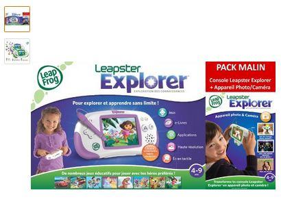 Moins de 22 euros la console Leapster Explorer avec module Camera de Leapfrog