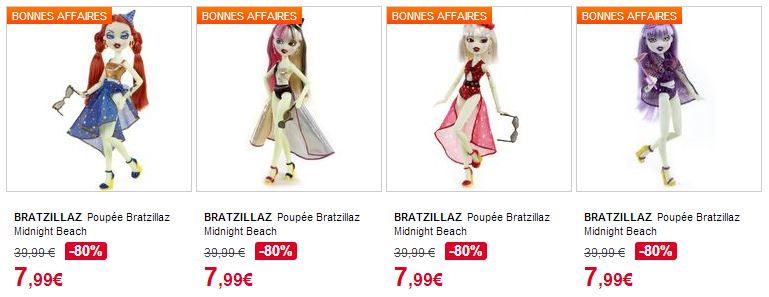 Poupees Bratzillaz a moins de 8 euros