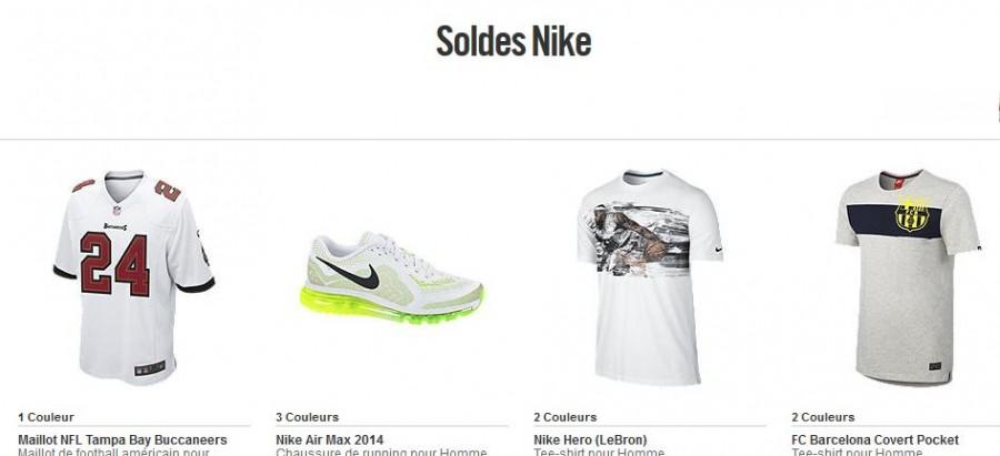Soldes flottants Nike octobre