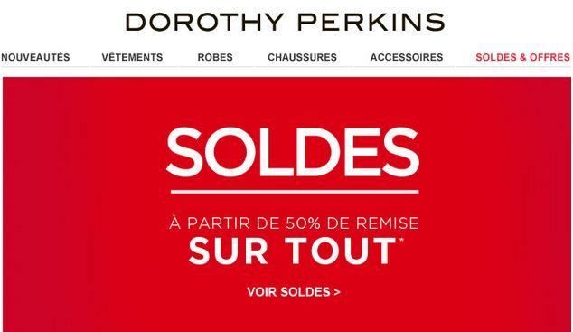 Tous les soldes à moitié prix et plus chez Dorothy Perkins (mode femme)