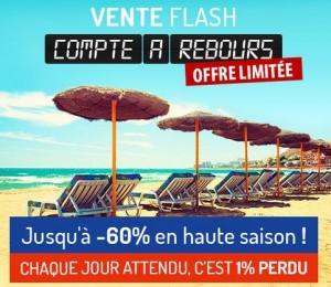Vente flash sur les séjours en été