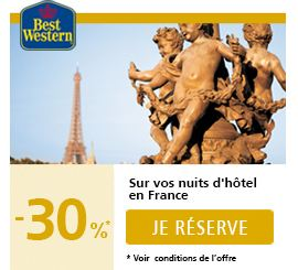 tarif reduit hôtel Best Western cet été