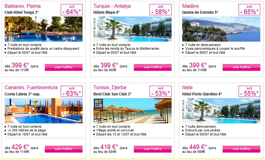 Vente flash voyage tout compris - Marmara ventes flash ...