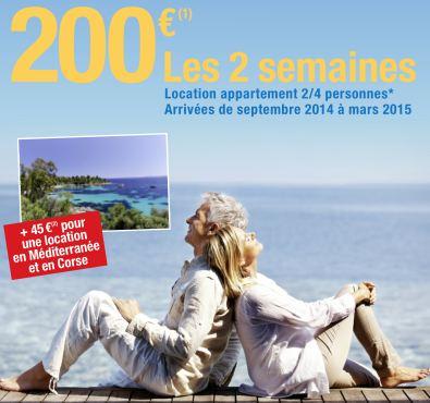 2 semaines en France pour 200 euros chez Carrefour Voyages