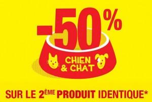 Alimentation Chien et Chat le second à moitié prix Gamm Vert