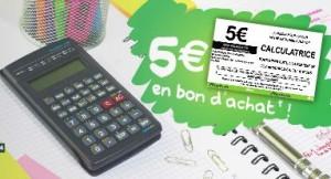 Auchan reprend votre ancienne calculatrice 5 euros