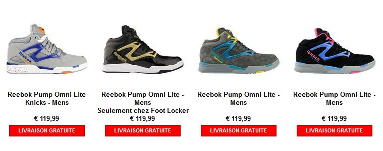 Baskets Reebok Pump Omni Lite chez Foot Locker