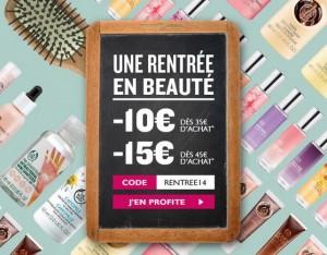 Body Shop 10 euros offerts pour 35 euros