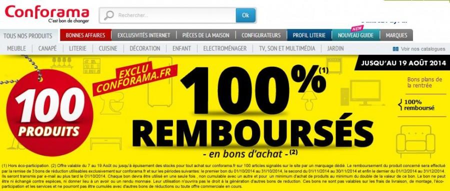 Bon plan Confo : 100 articles 100% remboursées