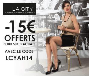 Code promo La City 15 euros pour 50 euros d'achats