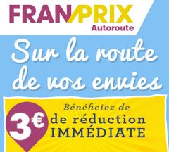 Franprix Autoroute : 3 euros de remises