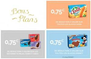Remise immediate sur les glaces Disney, Milka, Oreo, Oasis