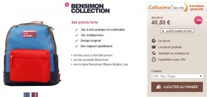 Sac a dos Bensimon Bteam Multico Backpack