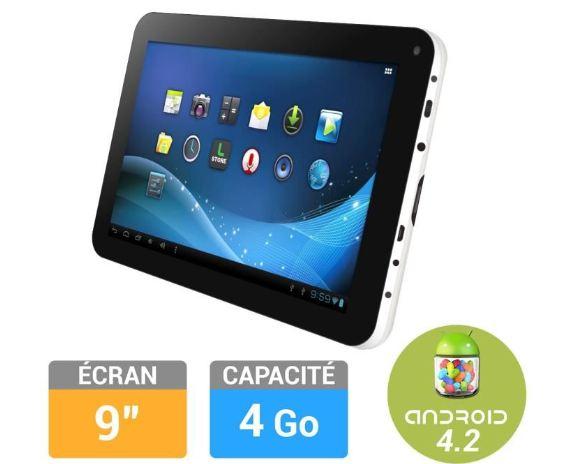vente flash tablette logicom 9 4 go moins de 50 euros contre plus de 80. Black Bedroom Furniture Sets. Home Design Ideas