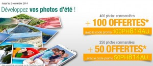 Tirage photos Auchan 250 photos 50 offertes