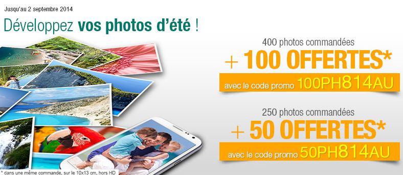 Tirage photos Auchan 250 photos  50 offertes