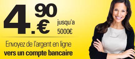 Transfert d'argent a l'etranger moins cher Western Union