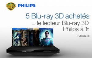 Un lecteur de Blu-ray Philips à 1 euro si vous achetez 5 Blu-ray 3D