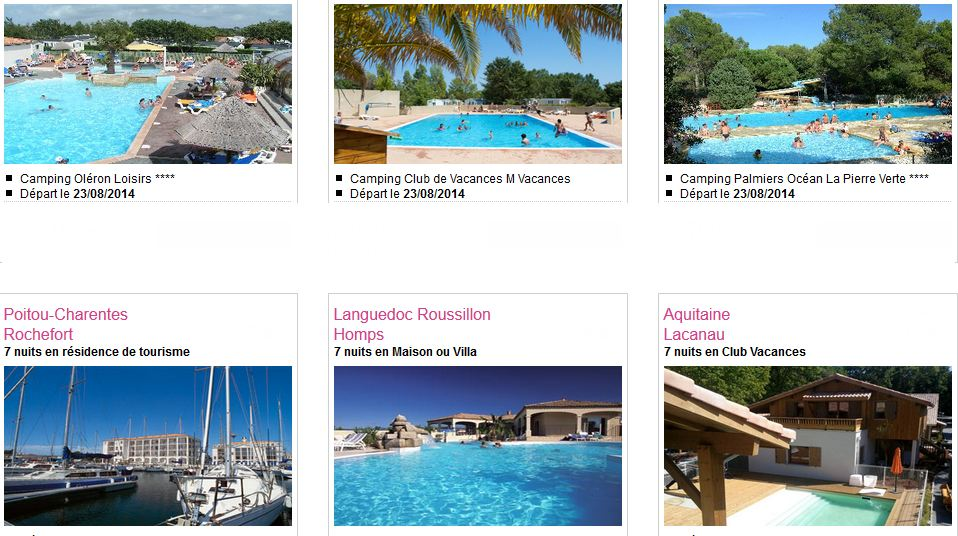 Vente Flash Locations de vacances