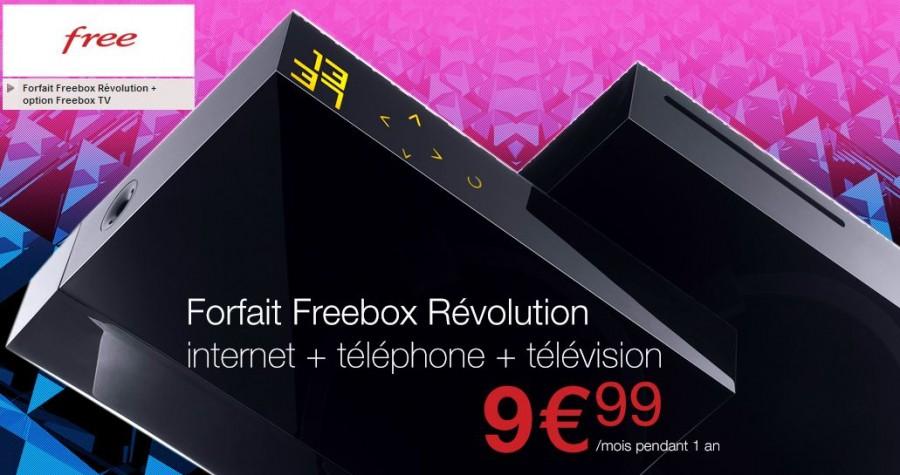 Vente Privée Freebox Révolution à moins de 10 euros