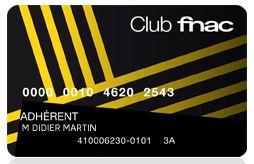 carte Fnac à 10 euros
