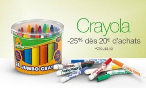 bon plan Crayola