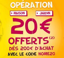 code promo 20 euros cdiscount