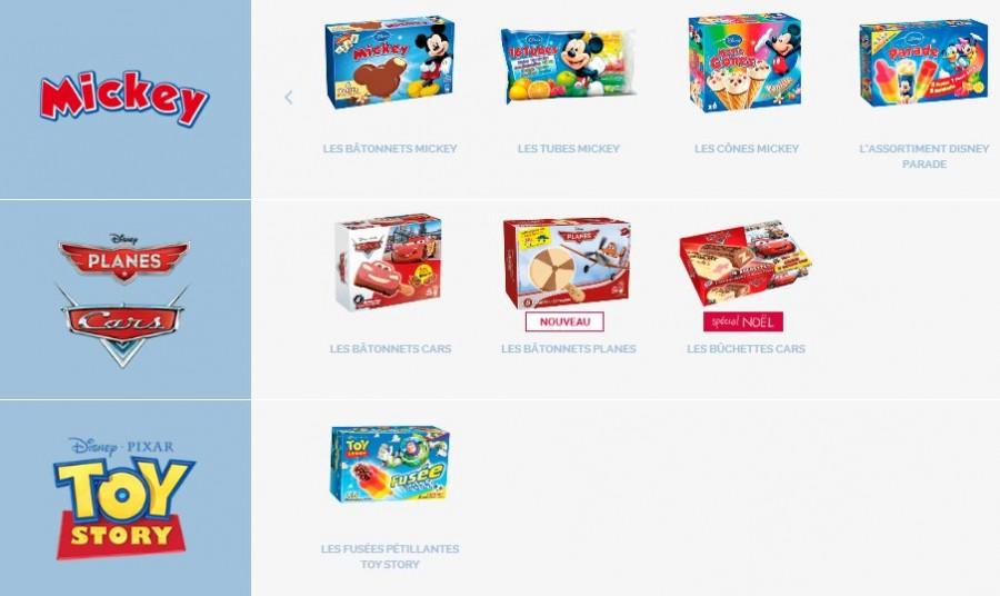 réduction à valoir sur toutes les glaces Disney