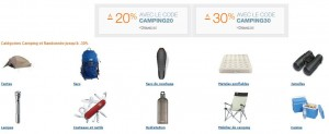 remises immédiates sur les accessoires Camping et Randonnée
